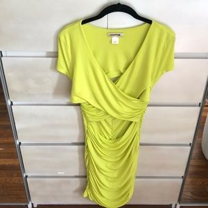 Arden B lime green bodycon dress